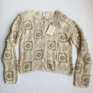 Vintage 90's EXPRESS Tricot Hand Knit Sweater
